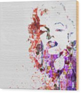 Marilyn Monroe Wood Print by Naxart Studio
