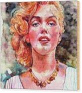 Marilyn Monroe Painting Wood Print