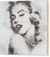 Marilyn Monroe Portrait 01 Wood Print