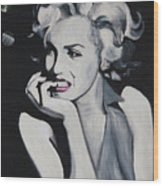 Marilyn Monroe Portrait Wood Print by Mikayla Ziegler