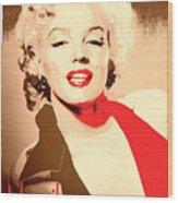 Marilyn Retro Poster Wood Print