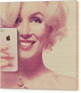 Marilyn Monroe Selfie 1 Wood Print