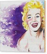 Marilyn Monroe Sunny Wood Print