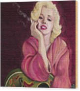 Marilyn Monroe Wood Print by Sydne Archambault