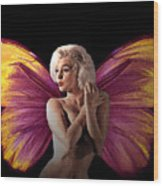 Marilyn Monroe The Fairy Wood Print by Tray Mead