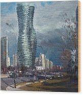 Marilyn Monroe Towers Mississauga Wood Print