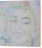 Marilyn Monroe - Watercolor Portrait.13 Wood Print