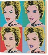 Marilyn Pop 4 Wood Print
