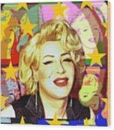 Marilyn Superstar Pop Wood Print