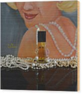 Marilyn With Chanel And Pearls Wood Print