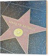 Marilyn's Star Wood Print