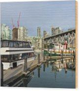 Marina At Granville Island In Vancouver Bc Wood Print