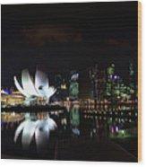 Marina Bay Sands Wood Print