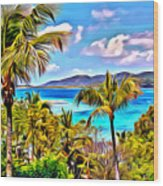 Marina Cay Wood Print