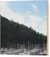 Marina In B.c. Wood Print