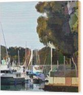 Marina Views Wood Print