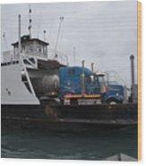 Marine City Mich Car Truck Ferry Wood Print