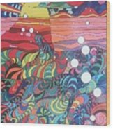 Marine Landscape Wood Print