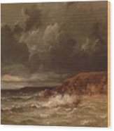 Marine Landscape The Cape And Dunes Of Saint Quentin 1870 Wood Print