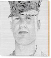 Marine Sgt Joseph Fankhauser  Wood Print