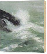 Marine Storm Sea 1911 Wood Print