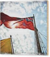 Mariners Flag Wood Print