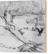 Mariners Musuem Park Wood Print