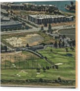 Mariners Point Golf Center In Foster City, California Aerial Photo Wood Print