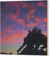 Marines At Dawn 2 Wood Print
