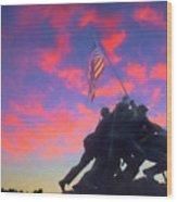 Marines At Dawn Wood Print
