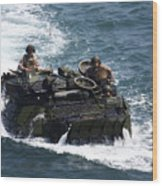 Marines Operate An Amphibious Assault Wood Print