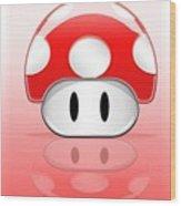 Mario Wood Print