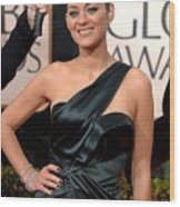 Marion Cotillard Wearing A Dior Gown Wood Print by Everett