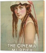 Marion Davies In The Cinema Murder 1919 Wood Print