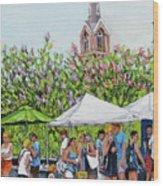 Marion Square Market Wood Print