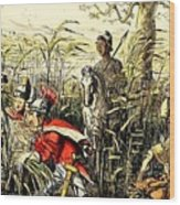 Marius Discovered In The Marshes At Minturn Wood Print