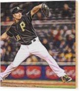 Mark Melancon Baseball Wood Print