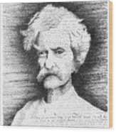 Mark Twain In His Own Words Wood Print