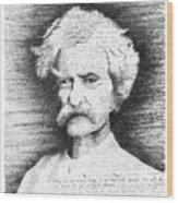 Mark Twain In His Own Words Wood Print