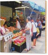 Market At Bensonhurst Brooklyn Ny 1 Wood Print