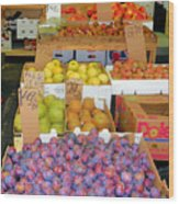 Market At Bensonhurst Brooklyn Ny 10 Wood Print