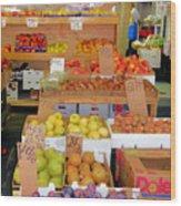 Market At Bensonhurst Brooklyn Ny 11 Wood Print