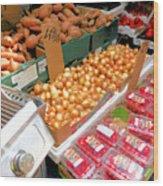 Market At Bensonhurst Brooklyn Ny 4 Wood Print