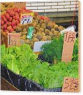 Market At Bensonhurst Brooklyn Ny 5 Wood Print