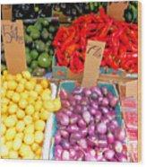 Market At Bensonhurst Brooklyn Ny 6 Wood Print