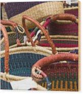 Market Baskets Wood Print