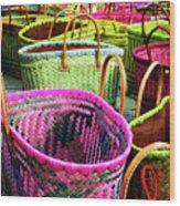 Market Baskets - Libourne Wood Print