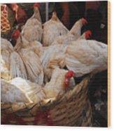 Market Chickens  Grenada Nicaragua Wood Print