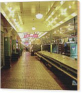 Market Day Is Done Wood Print
