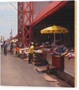 Market Georgetown Guyana Wood Print